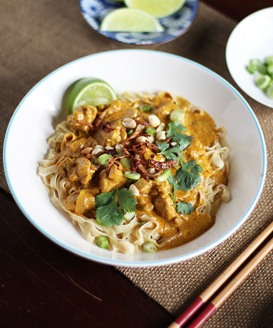 Thai Egg Noodles with Rich Chicken Curry (Khao Soi)