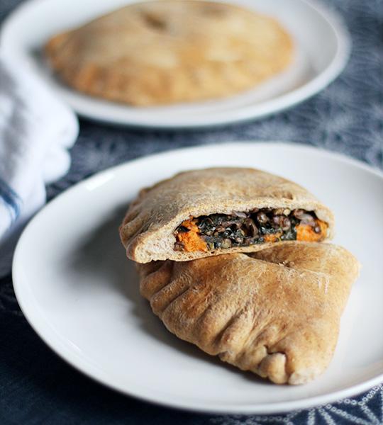 Spiced Lentil, Kale and Sweet Potato Whole Wheat Pockets