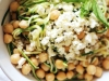 Chickpea, Barley & Zucchini Ribbon Salad with Mint & Feta