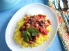 Mixed Bean Masala with Fragrant Yellow Rice