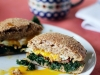 Kale, Bacon & Egg Whole Wheat Breakfast Sandwich