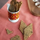 Rosemary, Parmesan &amp; Black Pepper Whole Grain Crackers