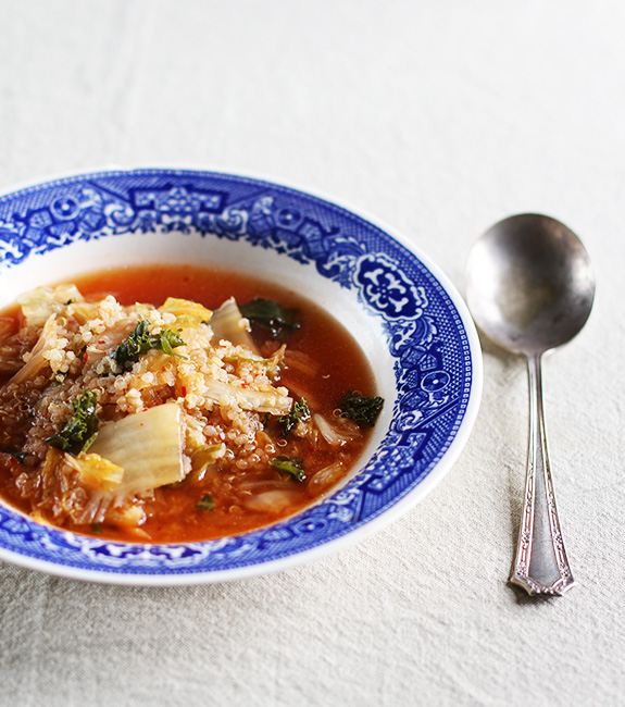 Hot & Sour Kimchi and Quinoa Stew / Eat Your Greens