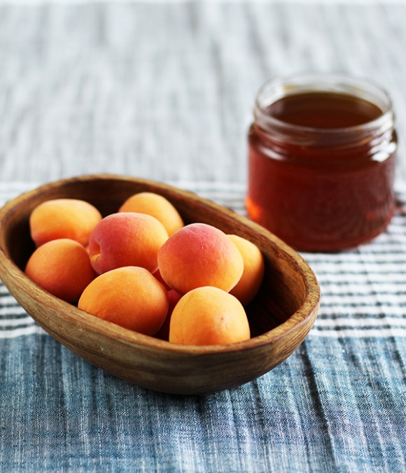 Baked Apricots with Honey from Eat Your Greens