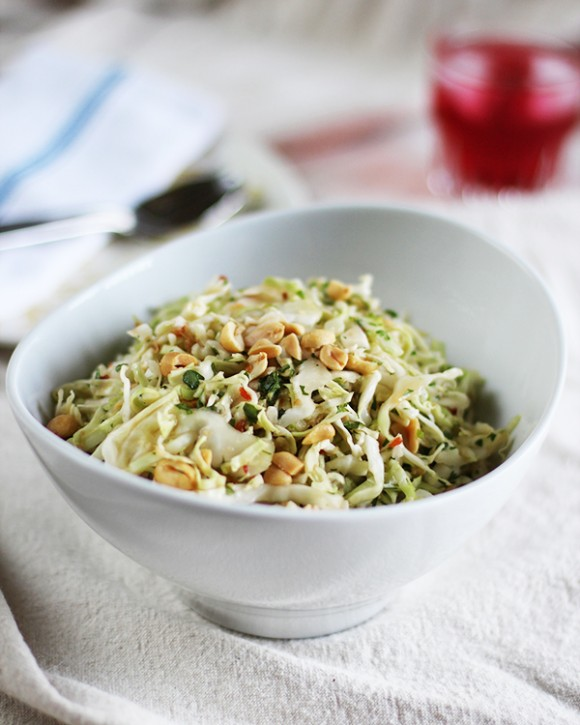 Gingery Cabbage Slaw with Spicy Lime Dressing from Eat Your Greens