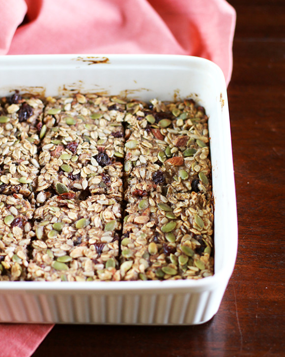 Nut & Seed Banana Oat Snack Bars - Eat Your Greens