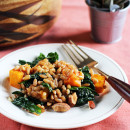 Warm Rye Berry, Roasted Pumpkin & Kale Salad