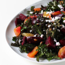 Extra Nutritious Red Kale Salad with Beets, Blood Oranges & Preserved Lemon Dressing from Eat Your Greens